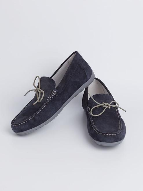 Image of Navy Blue Geox Tivoli Moccasin Shoe