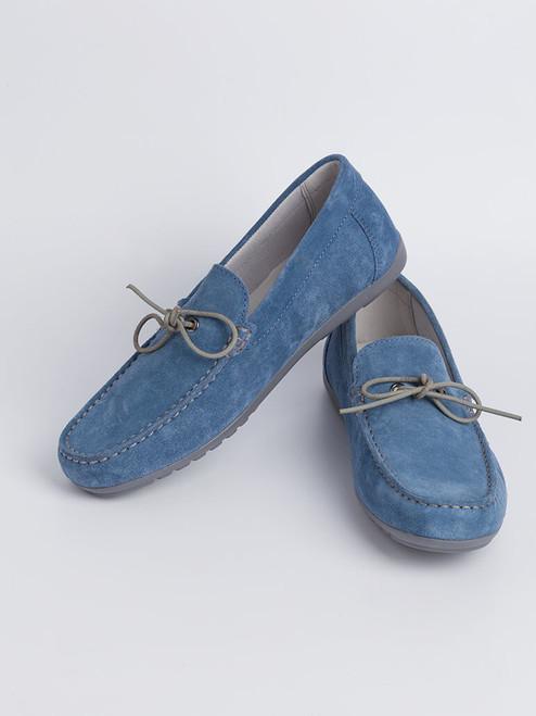 Image of Mens Blue Geox Tivoli Moccasin Shoe