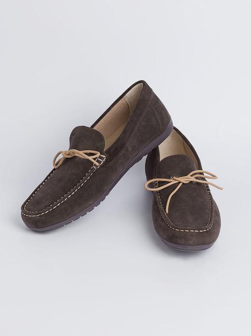 Image of Mens Brown Geox Tivoli Moccasin Shoe