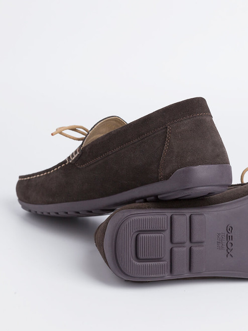 Close Up of Mens Brown Geox Tivoli Moccasin Shoe