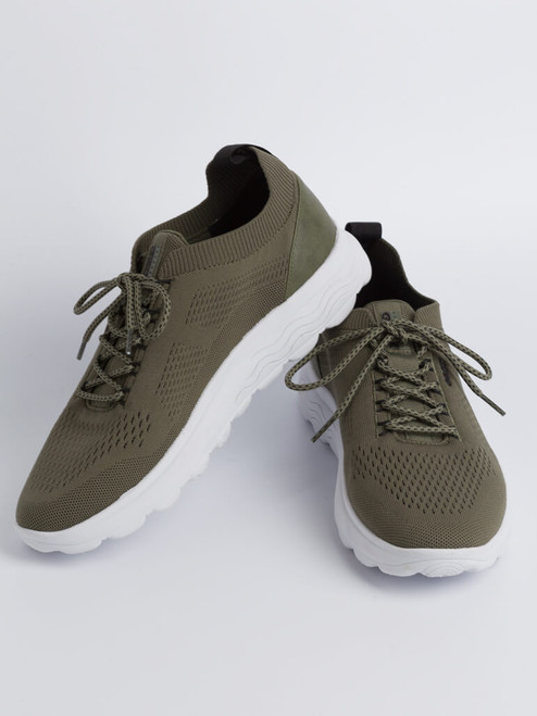 Image of Mens Olive Green Geox Spherica Trainer