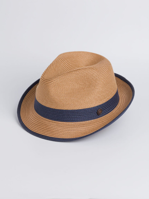 Image of Blue Two Tone Braid Hat
