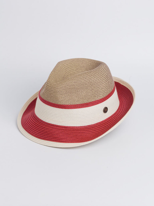 Image of Wine Red Two Tone Braid Hat