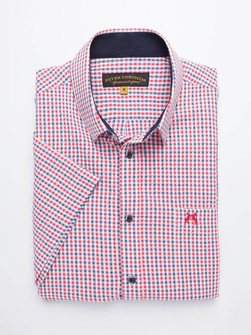 Folded Image of Check Seersucker Half Sleeve Shirt