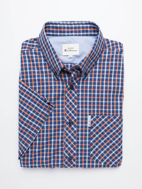 Folded Image of Blue Ben Sherman House Check Shirt