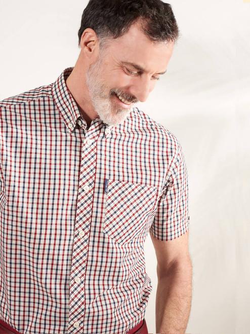 Image of Red Ben Sherman House Check Shirt