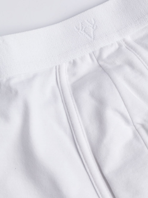 Close Up of White Vedoneire Jersey Boxer Briefs Fabric