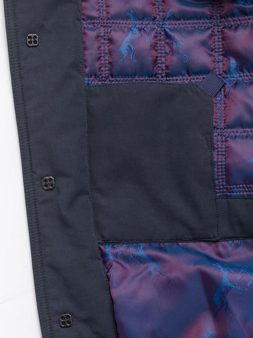 Inner pocket on Navy Blue Weatherwear Padded Raincoat