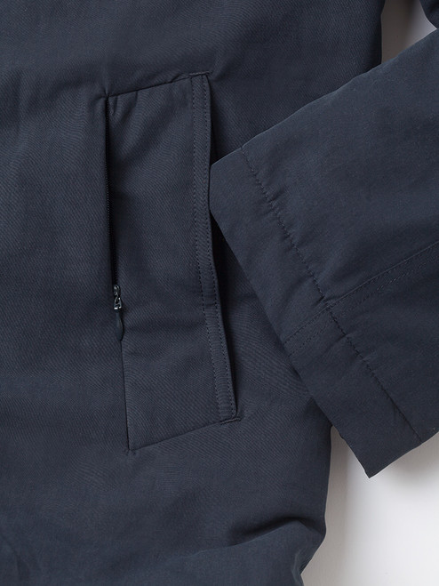 Outer pocket on Navy Blue Weatherwear Padded Raincoat