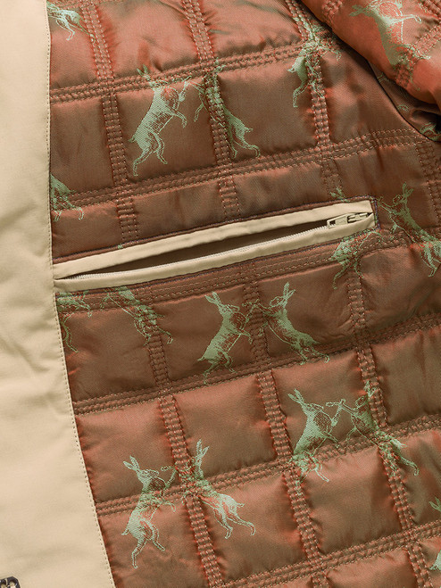 Exclusive lining on Sand Brown Weatherwear Padded Raincoat