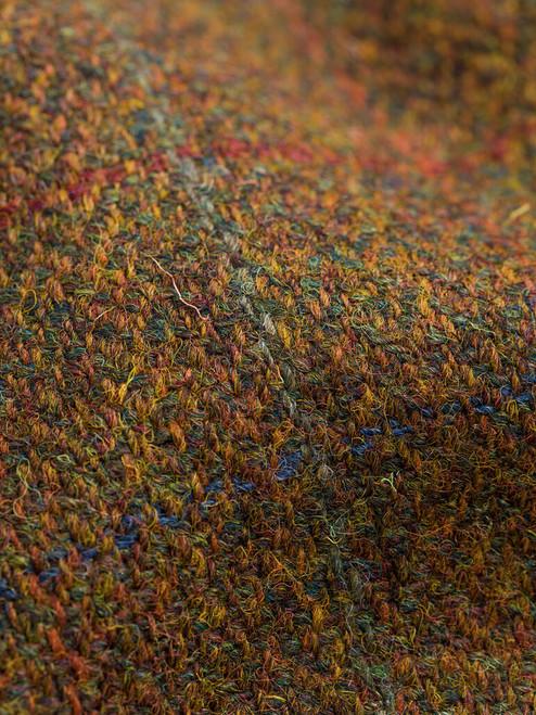 Fabric detail on Amber Harris Tweed Harrington Jacket