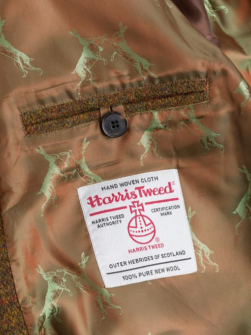 Harris Tweed Orb on Amber Harris Tweed Harrington Jacket