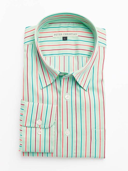 Green Multi Coloured Sussex Stripe Shirt