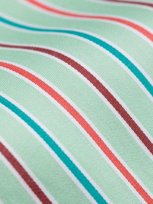 100% cotton Green Multi Coloured Sussex Stripe Shirt