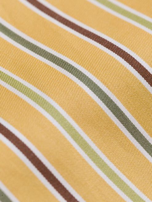 100% cotton Mustard Multi Coloured Sussex Stripe Shirt