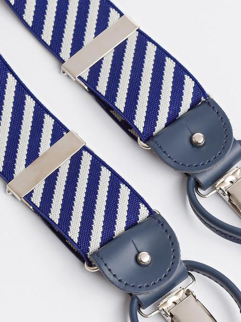 Detail of Blue Stripe 2-in-1 Classic Pattern Braces