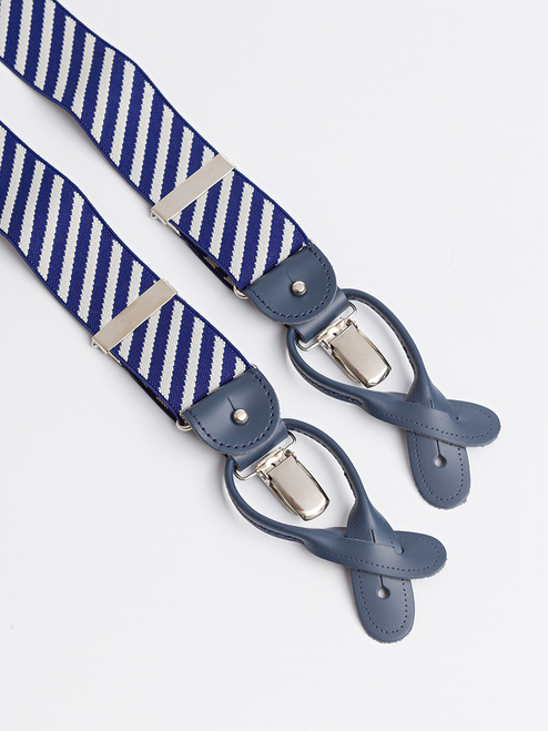 Blue Stripe 2-in-1 Classic Pattern Braces