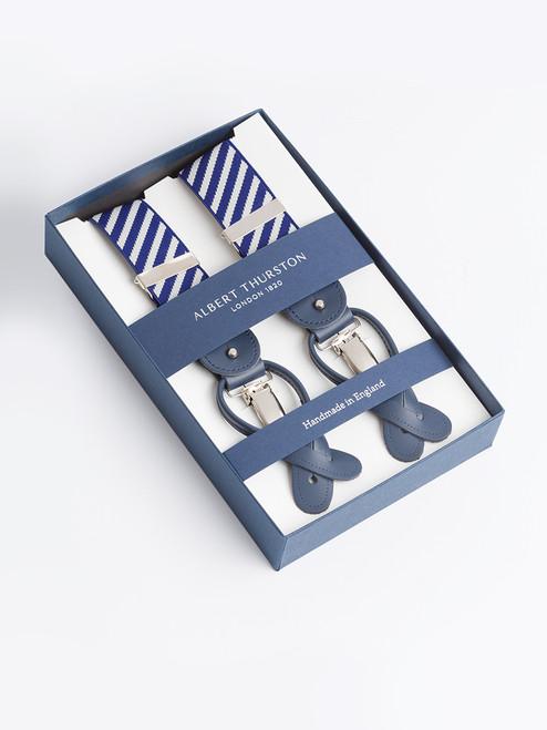 Presentation box of Blue Stripe 2-in-1 Classic Pattern Braces