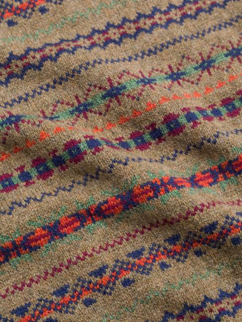 Distinct pattern on the Caramel Lambswool Fairisle Slipover