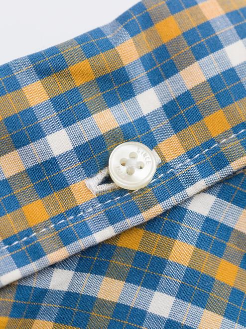 Collar back button on Mustard Ben Sherman Long Sleeve House Check Shirt