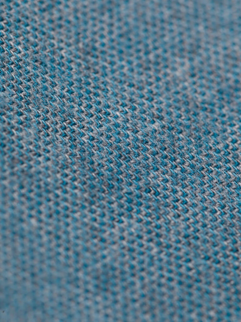 Fabric detail of Turquoise Blue Brushed Cotton Shirt