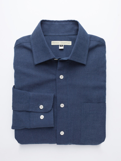 Navy Half Placket Shirt