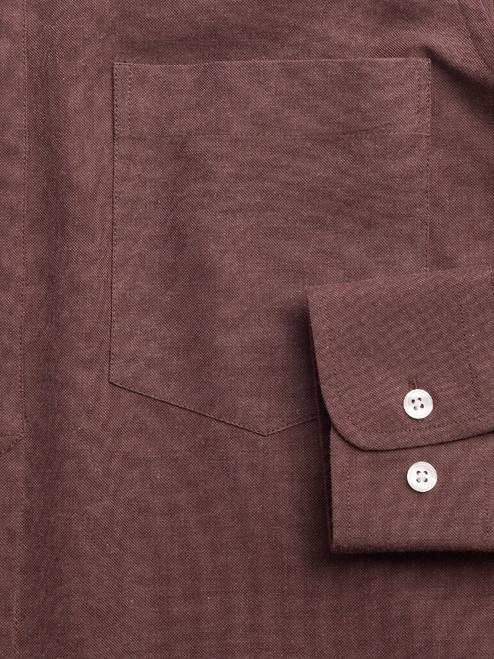 Adjustable cuff on Chocolate Half Placket Shirt
