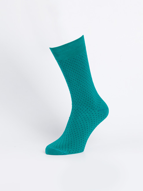 Teal Bamboo Dot Socks
