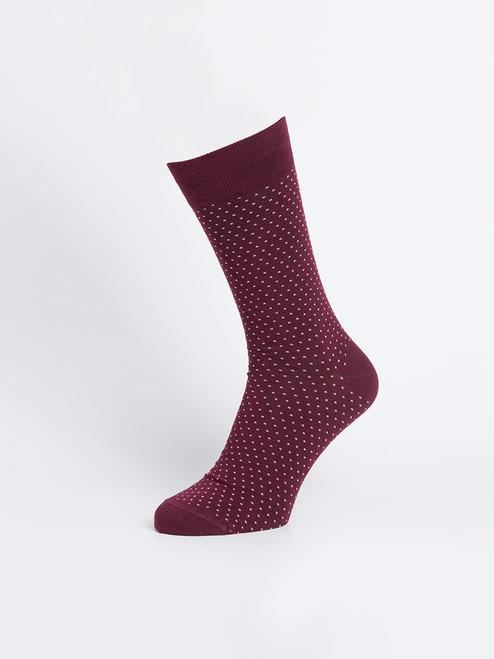 Wine Bamboo Dot Socks