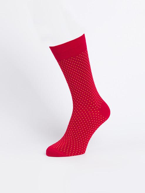Red Bamboo Dot Socks