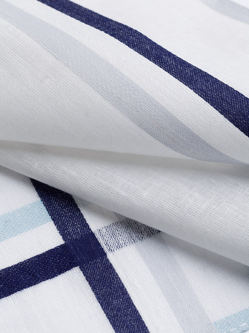 Detail of Navy, Blue and Silver Cotton Hank