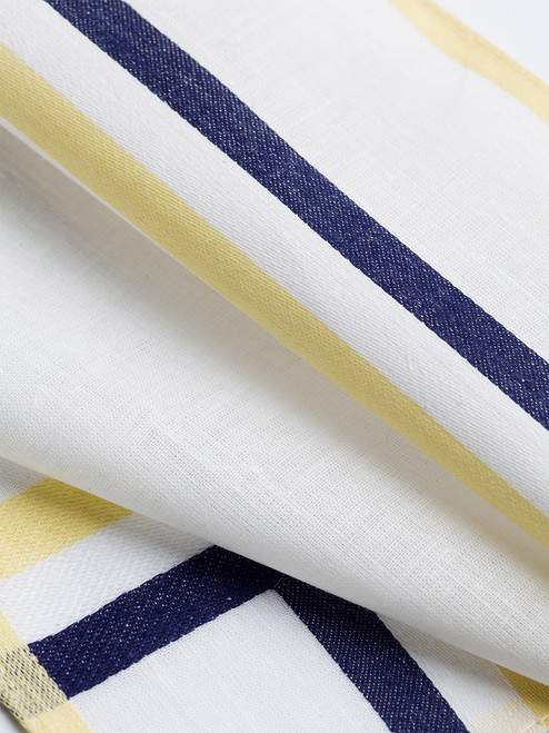 Detail of Navy, Cream and Gold Cotton Hank