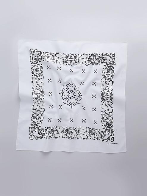 White Paisley Cotton Neckerchief