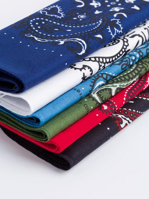 6 Pack Paisley Cotton Neckerchiefs
