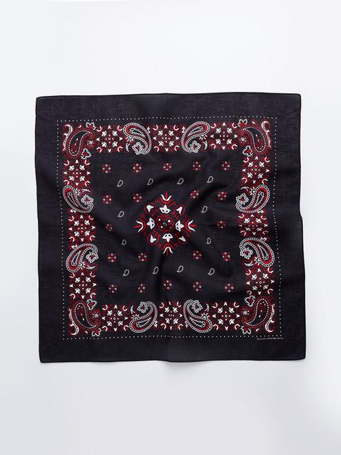 Black Paisley Cotton Neckerchief
