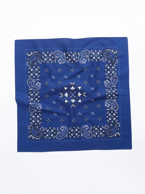 Navy Paisley Cotton Neckerchief