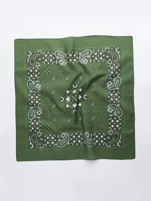 Green Paisley Cotton Neckerchief