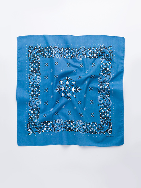 Blue Paisley Cotton Neckerchief