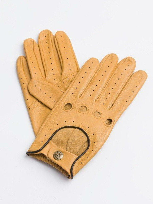 Cork Dents Leather Driving Gloves