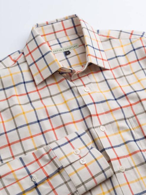 Adjustable cuff of Corn Big Check Tattersall Shirt