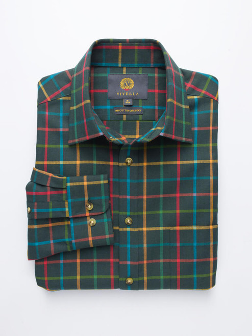 Green Viyella Wool & Cotton Shirt