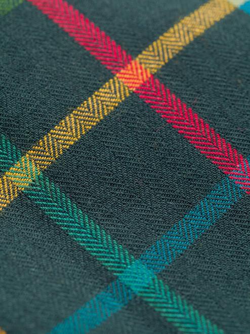 Detail of Green Viyella Wool & Cotton Shirt
