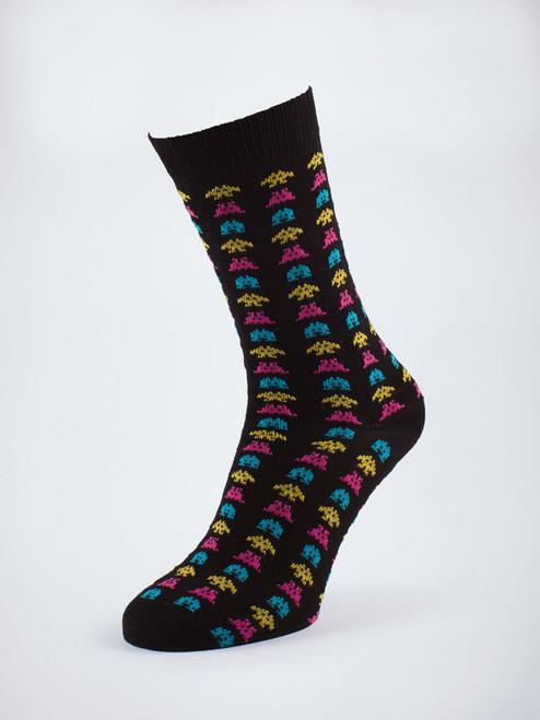Space Invaders Design Festive socks