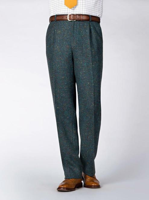 Ocean Blue Donegal Tweed Trousers