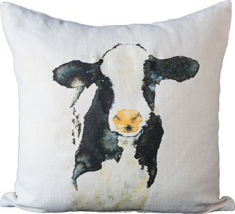 Black and White Cow Pillow