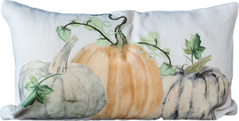 Farmhouse Pumpkins Zip Pillow