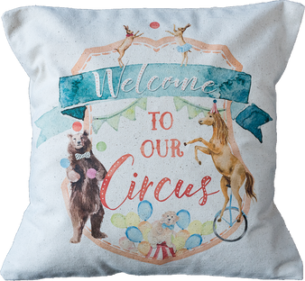 Welcome to the Circus Pillow