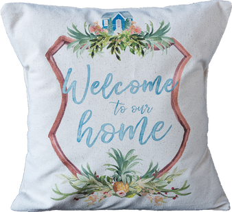 Pineapple Welcome to our Home Pillow