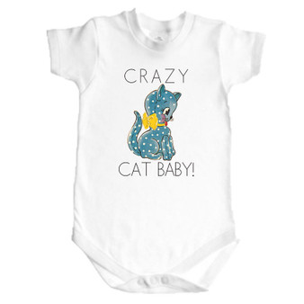 Crazy Cat Baby Onesies