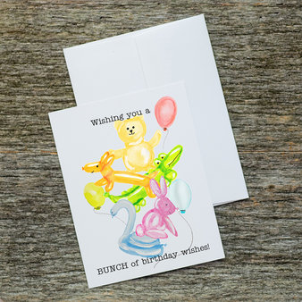 Balloon Animal Birthday Party Stationery